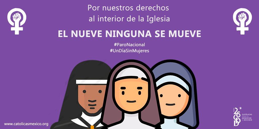 Las mujeres teólogas católicas nos sumamos al paro nacional de mujeres